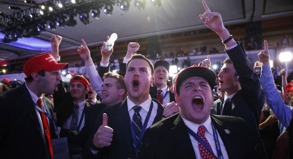 """Trump celebra la victoria llamando a la """"unidad"""" de los estadounidenses"""