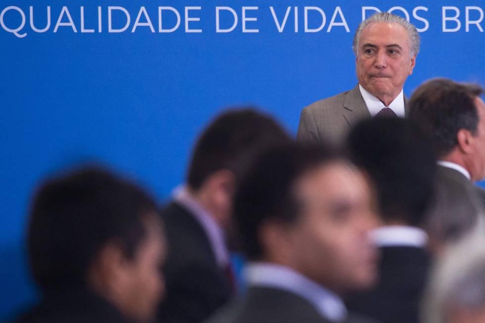 El presidente brasileño Michel Temer.