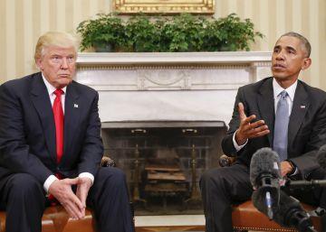 Obama garante diante de Trump a continuidade democrática dos Estados Unidos