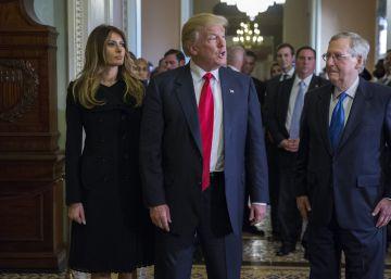 Trump se reúne con los líderes republicanos del Congreso este jueves en Washington.
