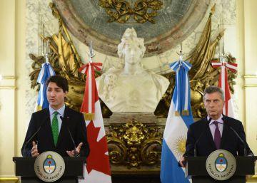 Trudeau dibuja ante Macri el nuevo rol de Canadá en América Latina