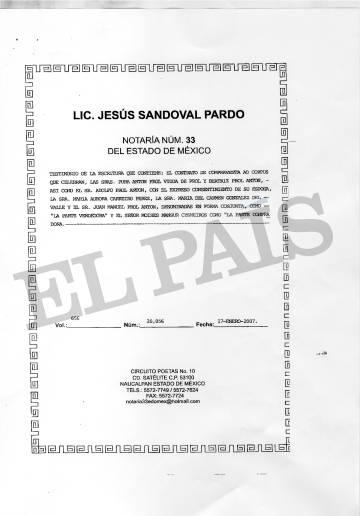 Escritura de compraventa de Moisés Mansur Cysneiros.