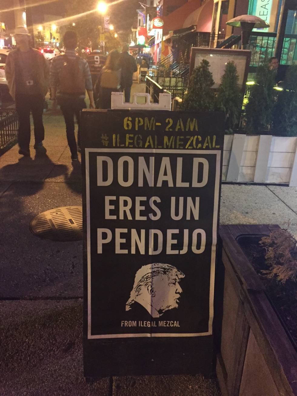 Bar anti-Trump en el barrio capitalino de Adam's Morgan