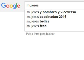 Así se busca a las mujeres en Google