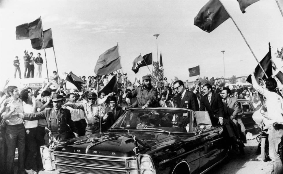 Fidel Castro y Salvador Allende, en Chile en 1971.