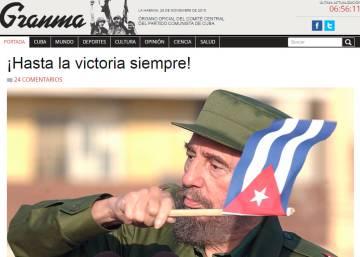 Titulares en los medios digitales internacionales sobre la muerte de Castro