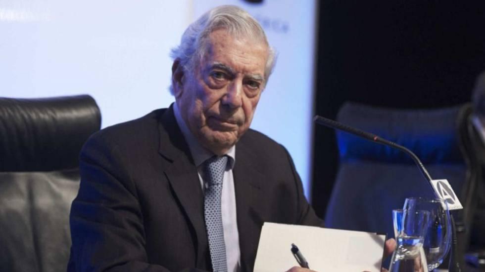 Mario Vargas Llosa, durante la celebración de su 80 cumpleaños en Madrid, el pasado 30 de marzo.