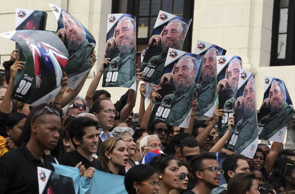 Homenaje a Fidel en la Universidad de La Habana