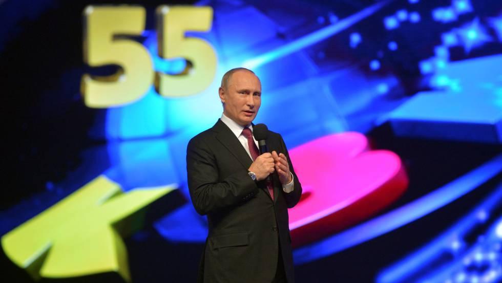 Vladmir Putin, en un programa de televisión, el pasado día 12.