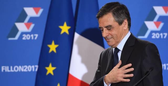 François Fillon, este domingo, durante el discurso en el que se declaró vencedor de las primarias.