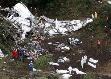 El accidente de avión del Chapecoense deja al menos 71 muertos en Colombia