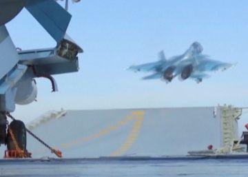 Un segundo caza ruso cae al Mediterráneo en menos de un mes