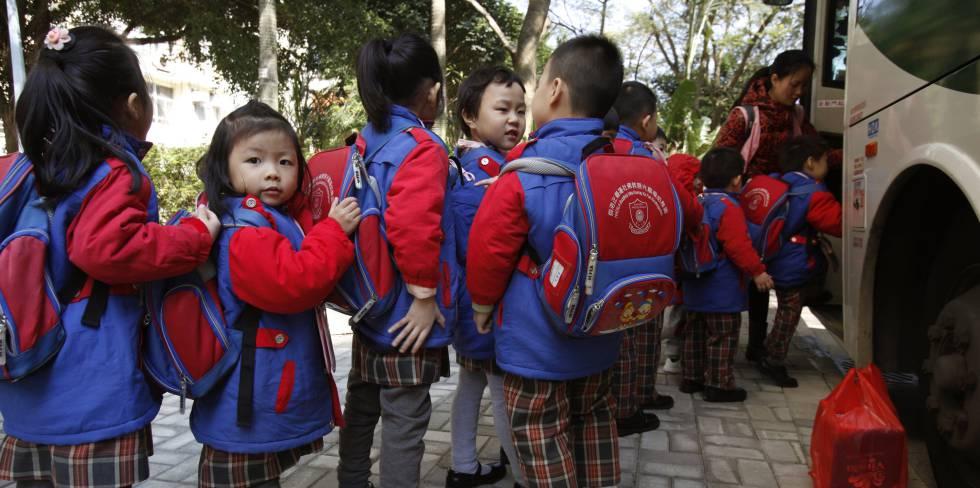 Alumnos de Hong Kong.