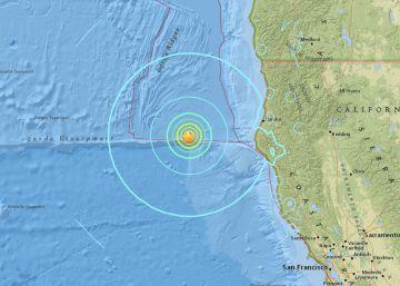 Localización del terremoto, según el Servicio Geológico de EE UU.