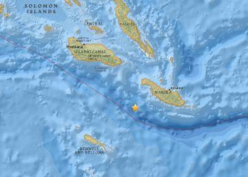 Desactivada la alerta de tsunami en las islas Salomón tras un terremoto de magnitud 7,8