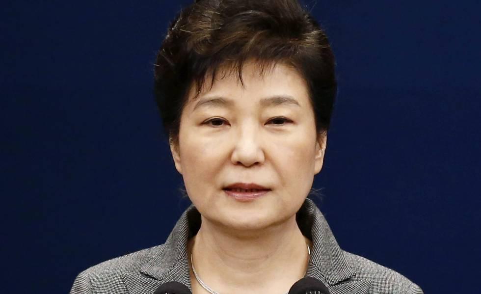Park Geun-Hye, durante su discurso ante la nación el 29 de noviembre de 2016.