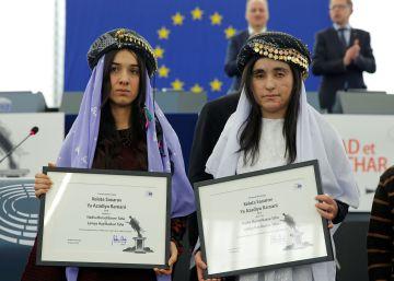 Las activistas premiadas con el Sájarov piden un juicio al ISIS