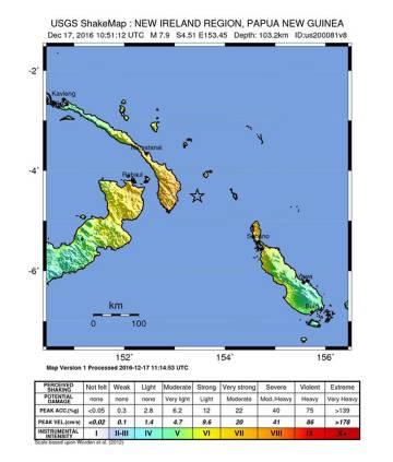 Aviso de tsunami tras un terremoto de magnitud 8 en Papúa Nueva Guinea