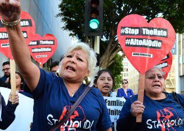 Los inmigrantes toman las calles de Los Ángeles contra Donald Trump