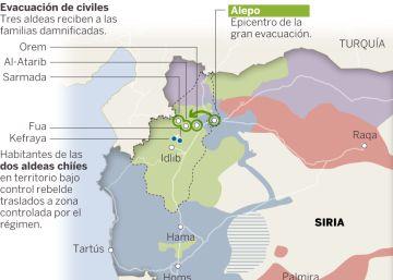 Las evacuaciones de Alepo y otras localidades sirias, explicadas en un mapa