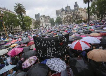 'Miércoles negro' contra la violencia machista en Buenos Aires el pasado 19 de octubre.