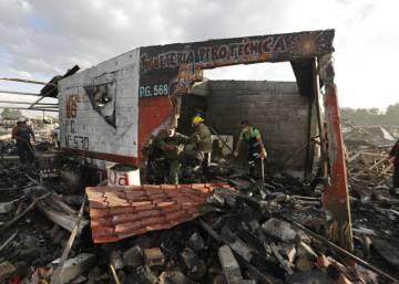 Explosión en Tultepec , Las imágenes del accidente