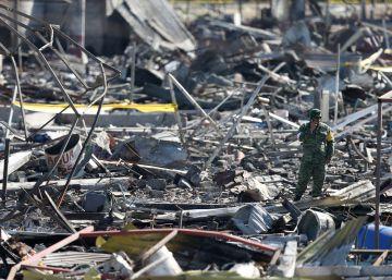 Los cinco agujeros negros de la explosión de Tultepec