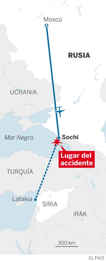 Un avión militar ruso con 92 personas a bordo se estrella en el mar Negro