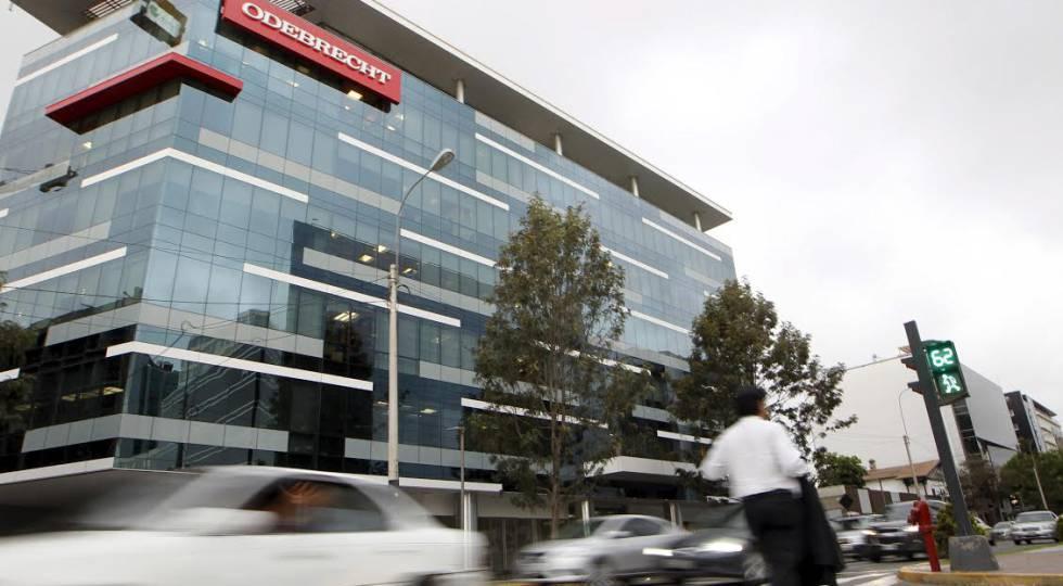 La sede de la constructora brasileña Odebrecht en Lima (Perú)