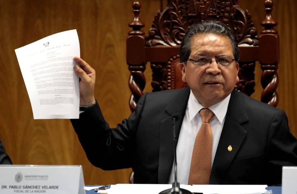 El fiscal de la nación Pablo Sánchez Velarde.