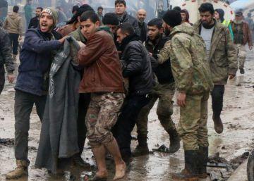 Al menos 48 muertos en un atentado con camión bomba en el norte de Siria