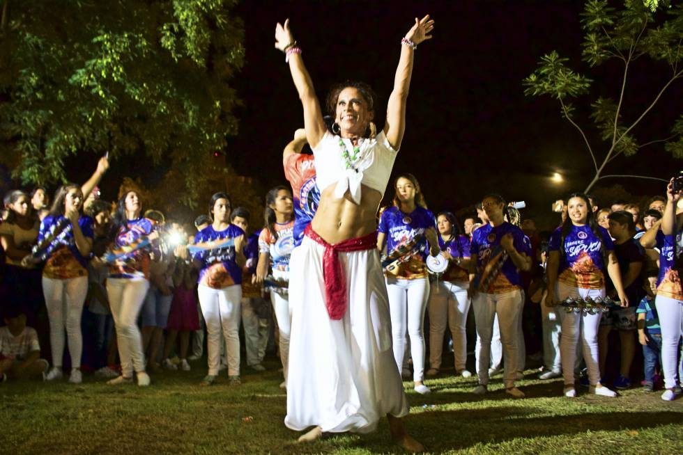 La batucada cerró la primera noche de festejos de San Baltasar.