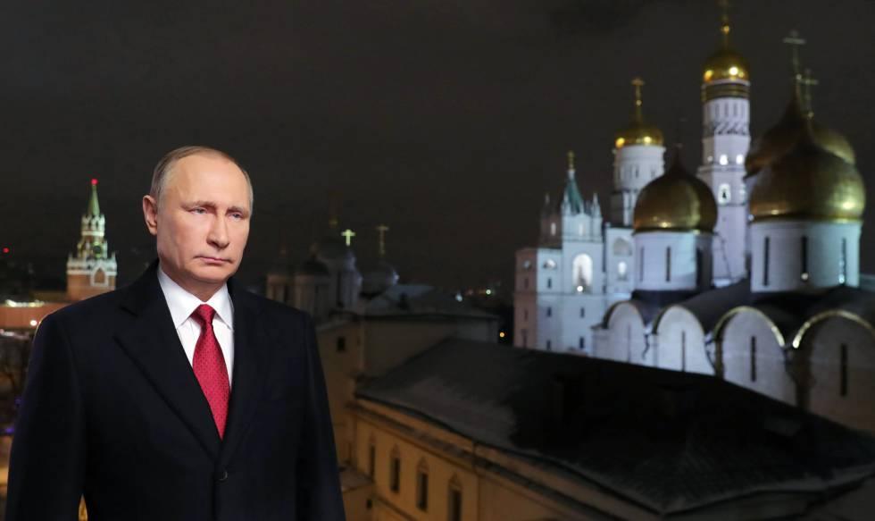 El presidente ruso se dirige a los ciudadanos en su mensaje de Año Nuevo.