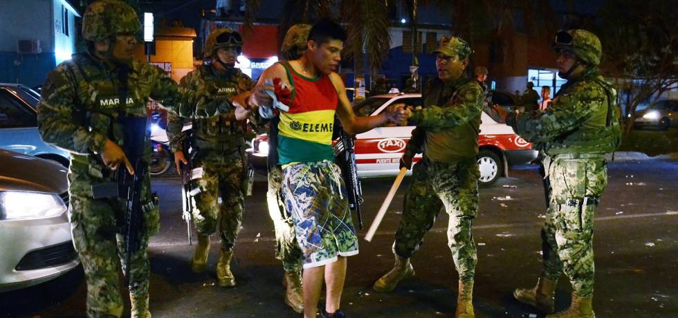 Elementos de la Marina detienen a saqueadores en Veracruz el miércoles