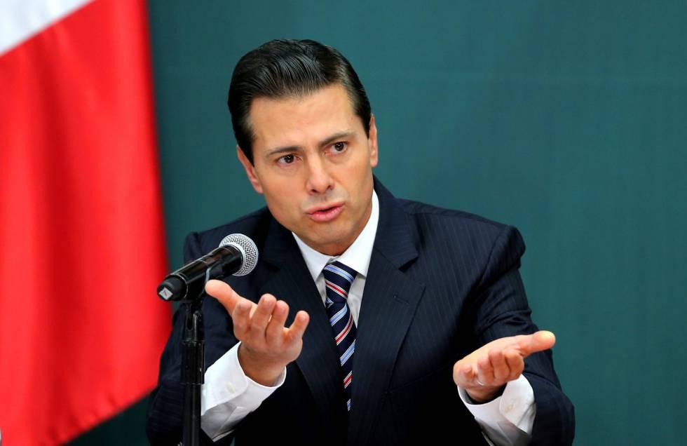 El presidente de México, Enrique Peña Nieto, al anunciar las medidas de protección a la economía familiar.