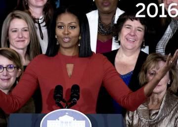 Así han cambiado los Obama en ocho años