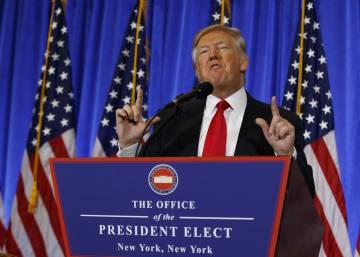 Primera intervención de Donald Trump tras ganar las elecciones