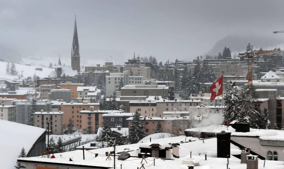 Foto de archivo del pueblo suizo de Davos durante la celebración del Foro Económico Mundial el año pasado.