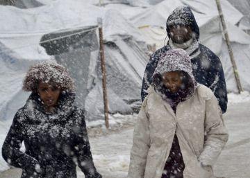 Cinco migrantes mueren en los últimos días en Europa por la ola de frío