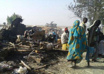 Nigeria mata a más de 70 personas al bombardear por error un campo de refugiados