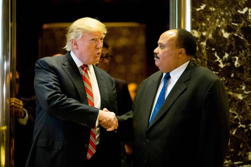 Trump con Martin Luther King III, este lunes en Nueva York