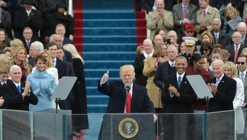 Donald Trump en su toma de posesión