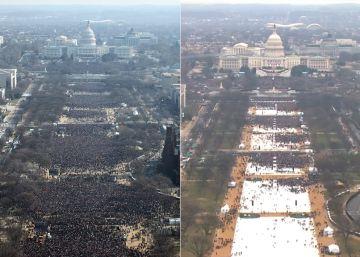 Mucho menos público en la toma de posesión de Trump que en la de Obama