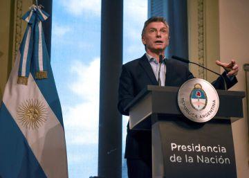 El presidente argentino, Mauricio Macri, en su primera rueda de prensa de 2017.