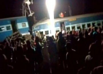 El accidente de tren en Andhra Pradesh.
