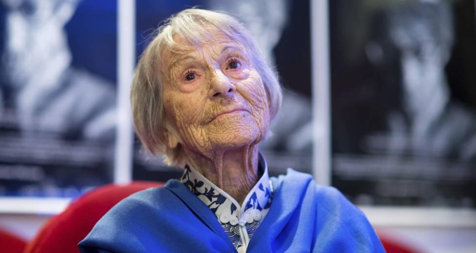 Brunhilde Pomsel, durante la presentación de un documental sobre su vida, en junio pasado en Múnich.