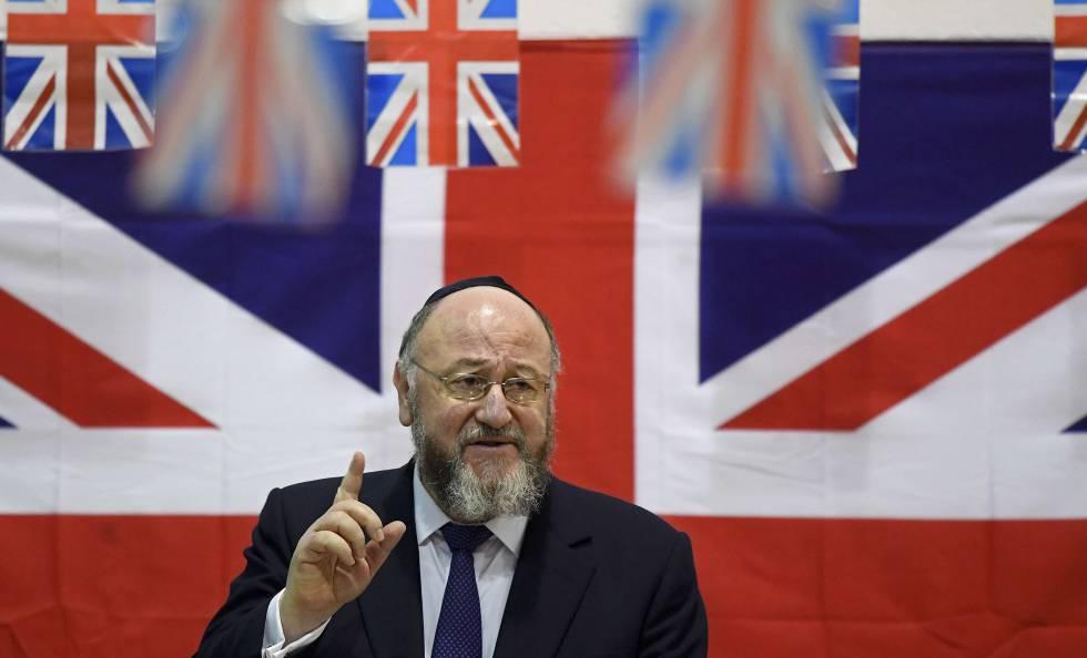 Ephraim Mirvis, el Gran Rabino británico, el 1 de febrero.