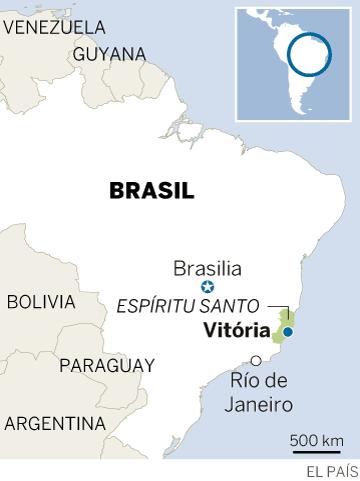 Caos en Vitória, la capital del Estado brasileño de Espíritu Santo