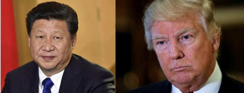 Xi Jinping y Trump en dos imágenes de archivo.