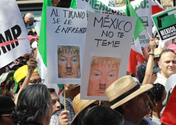 Mexicans take to the streets to protest against Donald Trump
